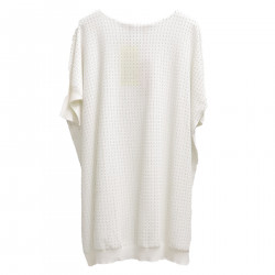 WHITE SWEATER WITH APPLICATION