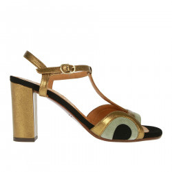 BANELA BRONZE AND GREY SANDAL