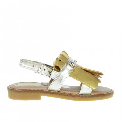 GOLD AND SILVER SANDAL