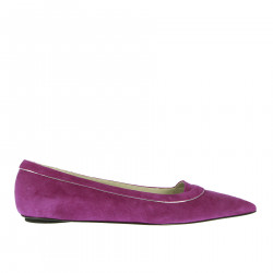 PURPLE BALLERINA IN SUEDE