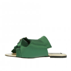 GREEN SLIPPERS WITH STRASS