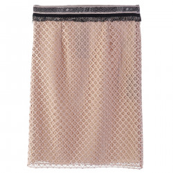 BEIGE SKIRT WITH FRINGES