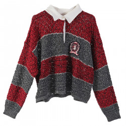 RED AND SILVER SWEATER