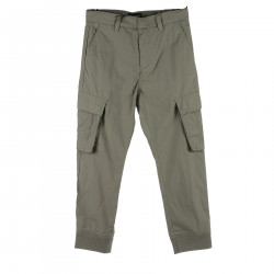GRAY TROUSERS IN COTTON