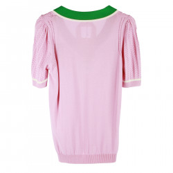 PINK AND GREEN T SHIRT