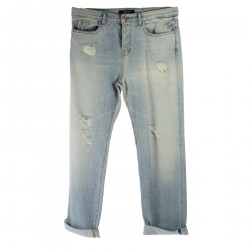 RIPPED LIGHT BLUE TROUSERS
