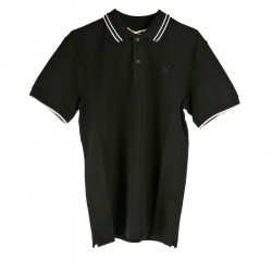 BLACK POLO WITH DETAILS