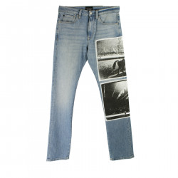 JEANS BLU CON STAMPA