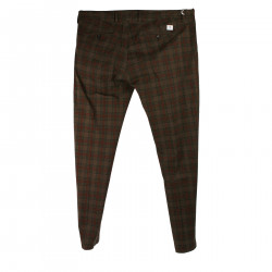 CHECKED BROWN AND RED TROUSERS