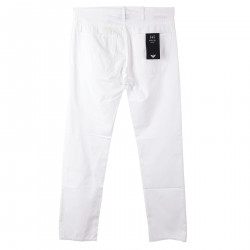 WHITE TROUSERS IN COTTON