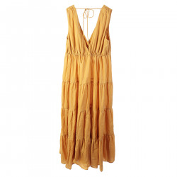 STRIPED YELLOW LONG DRESS