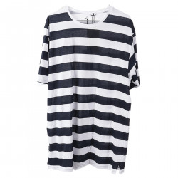 STRIPED BLUE AND WHITE T SHIRT