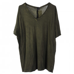 T SHIRT VERDE IN COTONE