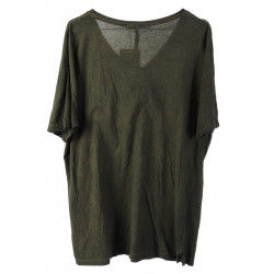 GREEN T SHIRT IN COTTON