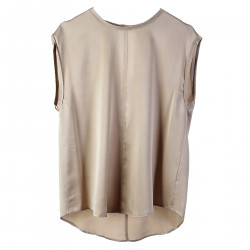 BEIGE SILK TOP