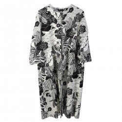 FLORAL WHITE OVERCOAT