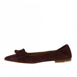 BORDEAUX SUEDE FLAT SHOE