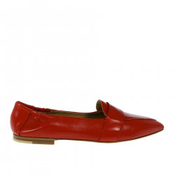 RED FLAT SHOE LOAFER