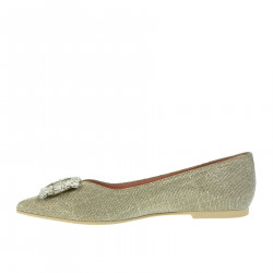 GALASSIA FLAT SHOES WITH STONES