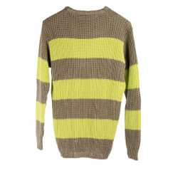 STRIPED BROWN AND GREEN SWEATER