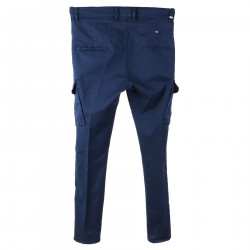 BLUE TROUSERS IN COTTON