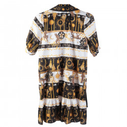 MULTICOLOR MINI SHIRT DRESS