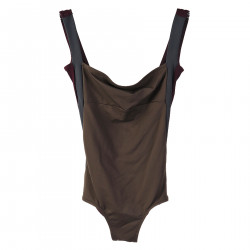GREY AND BORDEAUX SWIMSUIT
