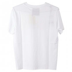 WHITE T SHIRT WITH MULTICOLOR PRINT