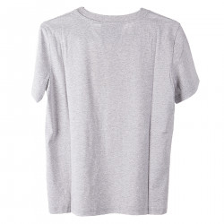 GREY T SHIRT WITH MULTICOLOR PRINT