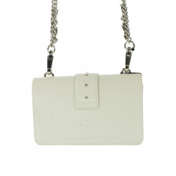 WHITE SHOULDER BAG WITH STRASS