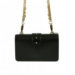 BLACK CROSSBODY BAG WITH STRASS