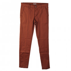 BROWN TROUSERS IN COTTON