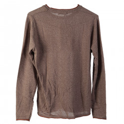 BROWN SWEATER WITH BREAST POCKET