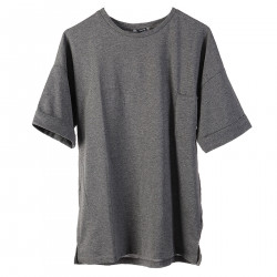 GRAY T SHIRT IN COTTON