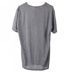 GRAY T SHIRT WITH POCKETS