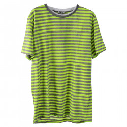 STRIPED YELLOW FLUO T SHIRT