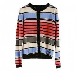 STRIPED MULTICOLOR CARDIGAN