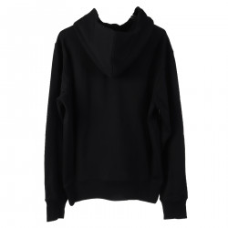 BLACK SWEATER WITH HOOD