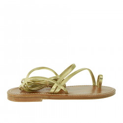 GOLD LEATHER SANDAL