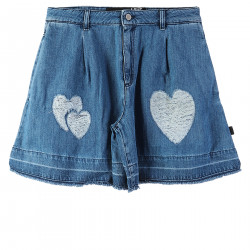BLUE SHORTS WITH HEARTS