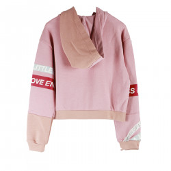 PINK SWEATER WITH WRITTINGS