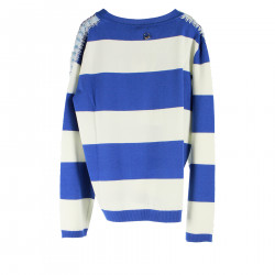 STRIPED BLUE AND WHITE SWEATER