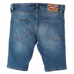 BERMUDA IN WASHED JEANS