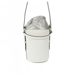 WHITE LEATHER BUCKET