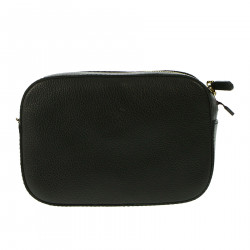 BLACK LEATHER POCHETTE