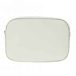 WHITE LEATHER POCHETTE
