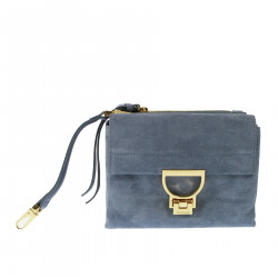 LIGHT BLUE SUEDE BAG