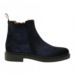 BLUE SUEDE ANKLE BOOT