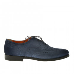 BLUE SUEDE LACE-UP