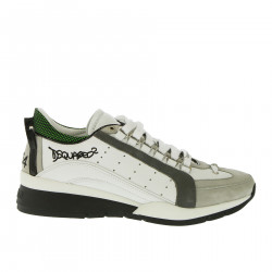 WHITE AND TOUPE SNEAKERS
